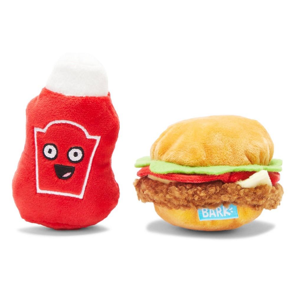 Bark Ketchup And Burger Dog Toy