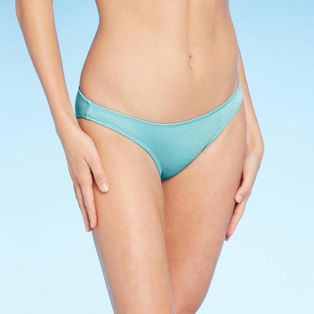 Juniors 39 Metallic Textured Cheeky Bikini Bottom Xhilaration 8482 Light Blue S