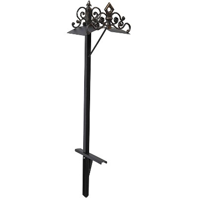 Liberty Garden 648-KD Outdoor Freestanding Decorative Cast Iron Steel Lawn Backyard Hose Holder Stand for 125 Feet of 5/8 Inch Thick Hose, Black