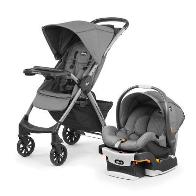 Chicco Mini Bravo Plus Travel System - Slate Gray