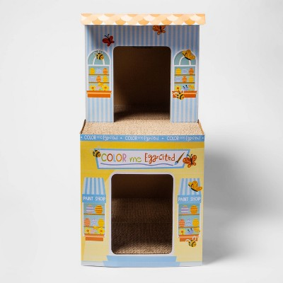 Deluxe Double Decker Painting Studio Cat Scratch House - Boots & Barkley™