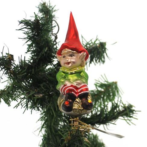 """Inge Glas 4.5"""" Elf Himself Santa's Helper - image 1 of 4"""