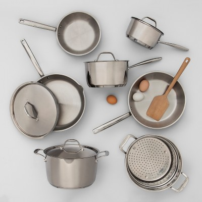 What Is Stainless Steel Made Of >> Stainless Steel Cookware Collection Made By Design Target
