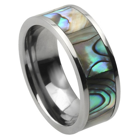Men's Daxx Titanium Band with Abalone Inlay (8mm) - image 1 of 4