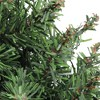 """Northlight 22"""" Unlit Green Pine Artificial Heart Shape with Ground Stakes Christmas Wreath - image 4 of 4"""