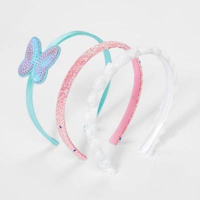 Girls' 3pk Glitter Rosette Butterfly Headband - Cat & Jack™