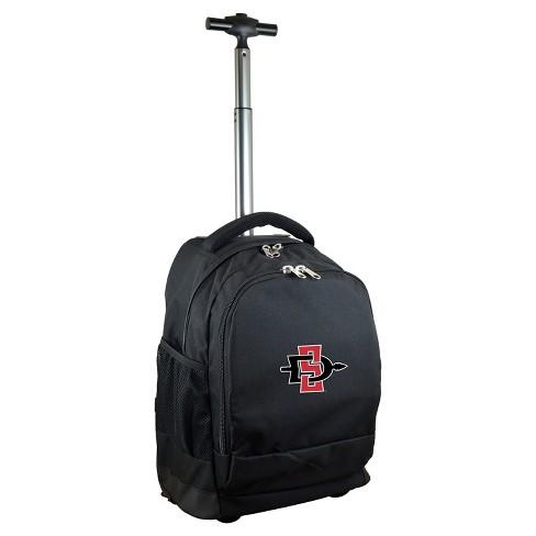 d967c2063b0 NCAA San Diego State Aztecs Black Premium Wheeled Backpack   Target