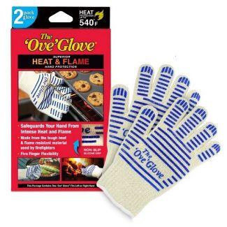 2pk Oven Mitt White/Blue - The Ove Glove
