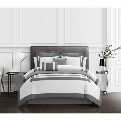 Queen 12pc Golda Bed In a Bag Comforter Set Gray - Chic Home Design