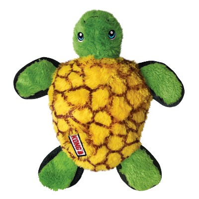 KONG Tough Plush Turtle Dog Toy - Green