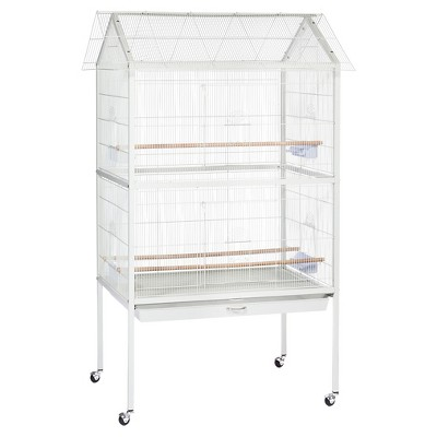 Prevue Pet Products Aviary Flight Cage with Stand - White - Large