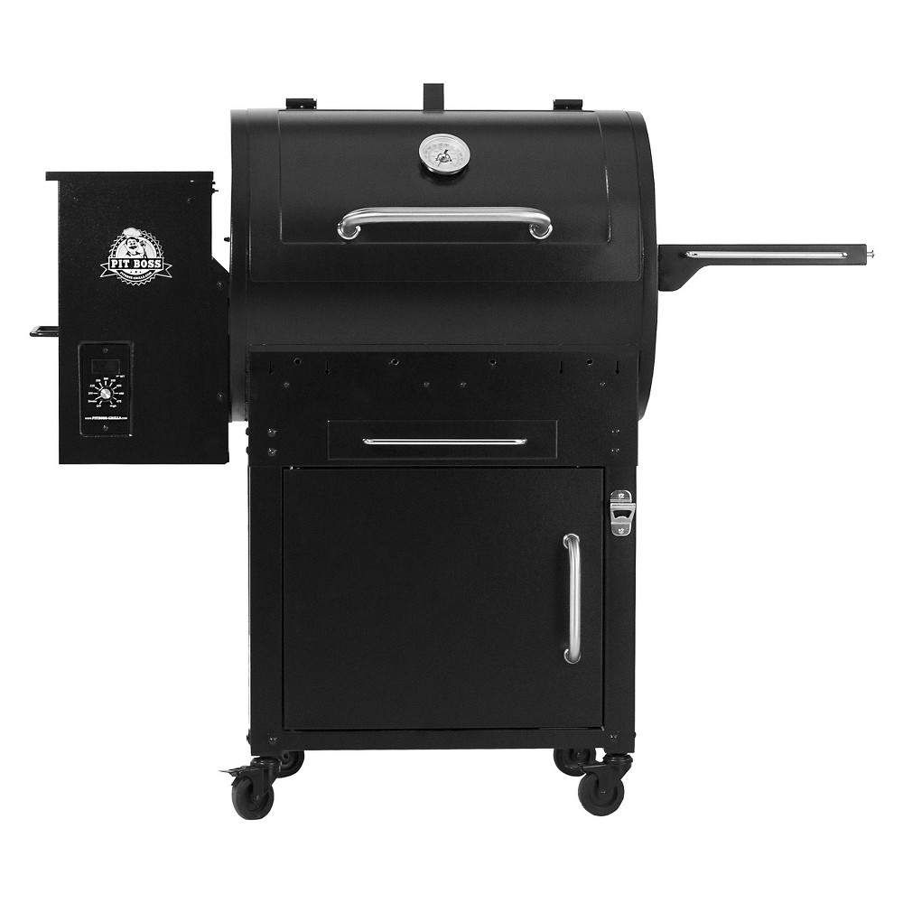 Wood Fired Pellet Grill With Flame Broiler & Cart – Pit Boss, Black 51958602