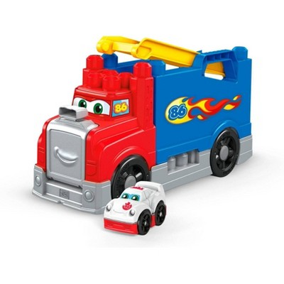 Mega Bloks First Builders Build & Race Rig Construction Set