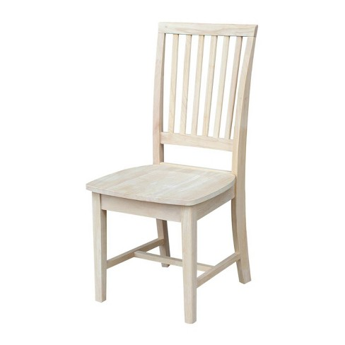 Set Of 2 Mission Side Chair Unfinished - International Concepts - image 1 of 4