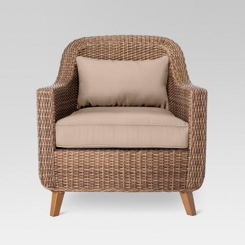 Mayhew All Weather Wicker Patio Club Chair - Threshold™ - Mayhew All Weather Wicker Patio Club Chair - Threshold™ : Target