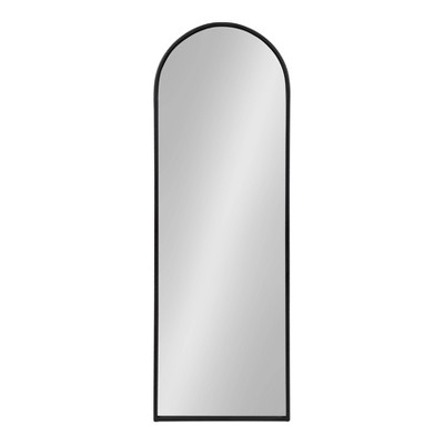 """16"""" x 47"""" Valenti Tall Framed Arch Mirror Black - Kate and Laurel"""