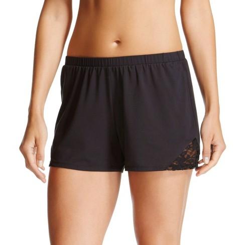 Women's Sleep Lace Shorts - Gilligan & O'Malley™ Black M - image 1 of 1