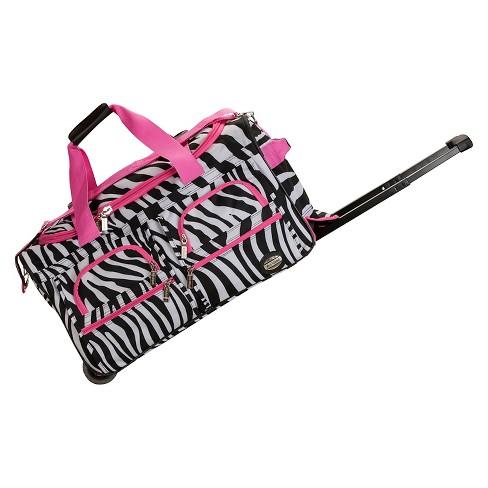 9b58164e5d68 Rockland Rolling Duffle Bag - Pink Zebra (22