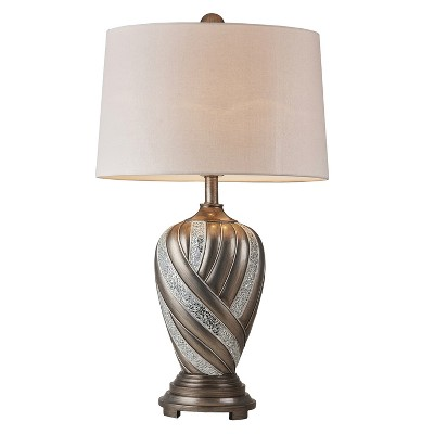 "29.75"" Antique Polyresin Table Lamp (Includes Energy Efficient Light Bulb)Brown - Ore International"