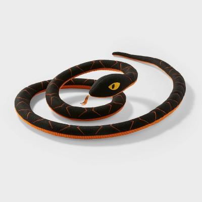 Black/Orange Snake Halloween Decorative Figurine - Hyde & EEK! Boutique™
