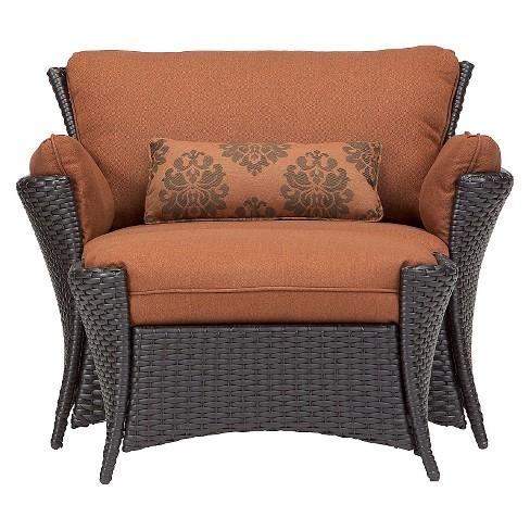 Strathmere Allure 2 Piece Wicker Patio Chair Ottoman Set Target