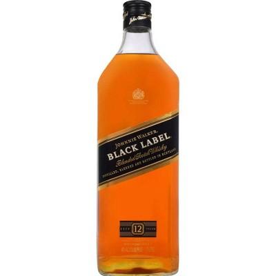 Johnnie Walker 12yr Black Label Blended Scotch Whisky - 1.75L Bottle