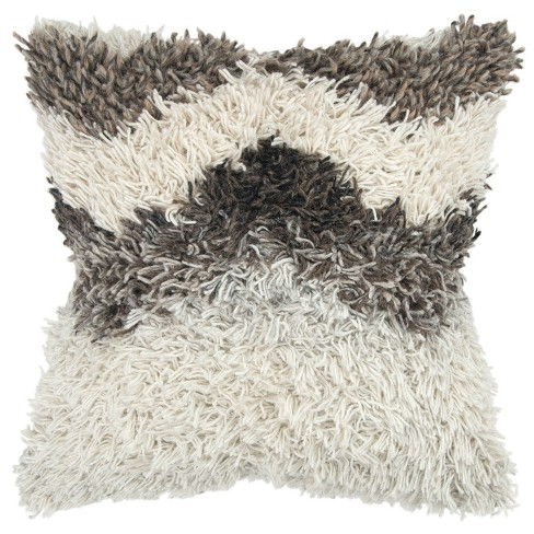 Stripe Decorative Filled Oversize Square Throw Pillow Natural - Rizzy Home - image 1 of 4