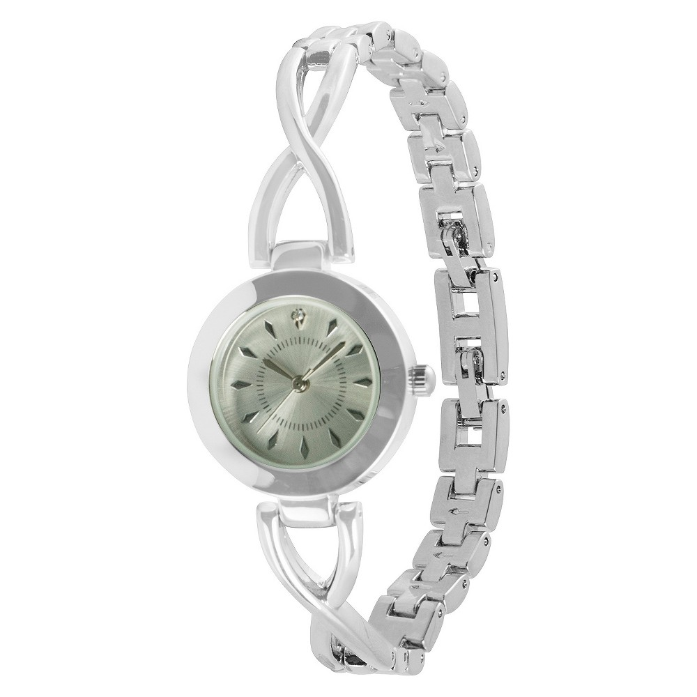 Image of Women's Acutime Opp Link Bracelet Watch - Silver