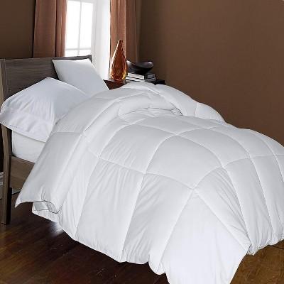 Blue Ridge Home Fashion Microfiber All Season Down Alternative Reversible Comforter White