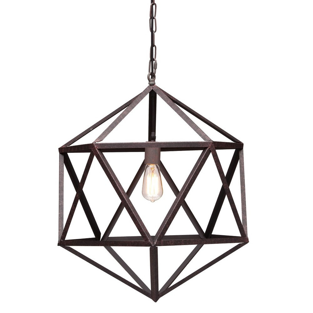Industrial 21 Steel Aged Patina Ceiling Lamp - ZM Home, Red