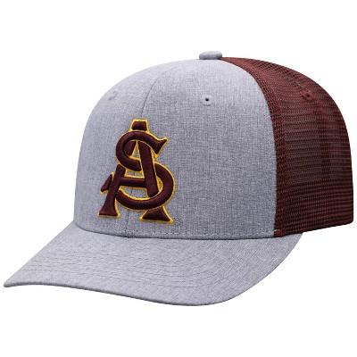 NCAA Arizona State Sun Devils Men's Gray Chambray with Hard Mesh Snapback Hat