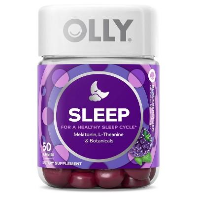 OLLY 3mg Melatonin Sleep Gummies - Blackberry Zen - 50ct