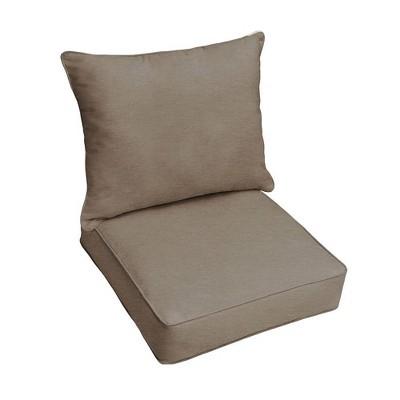 Sunbrella Canvas Outdoor Seat Cushion Taupe