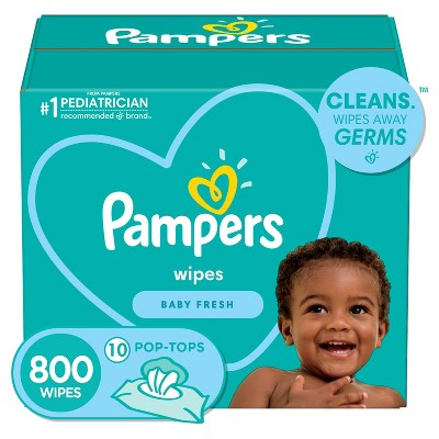 Pampers Fresh Baby Wipes - 800ct