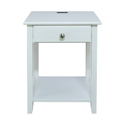 Casual Home Night Owl Bedroom Nightstand with Included Discrete USB Port Station
