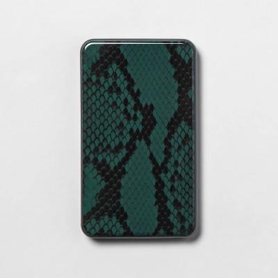heyday™ 6000mAh Portable Powerbank - Sycamore Green Snake Skin