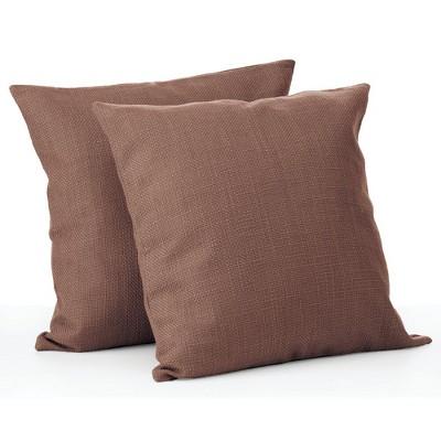 mDesign Decorative Faux Linen Pillow Case Cover - 2 Pack