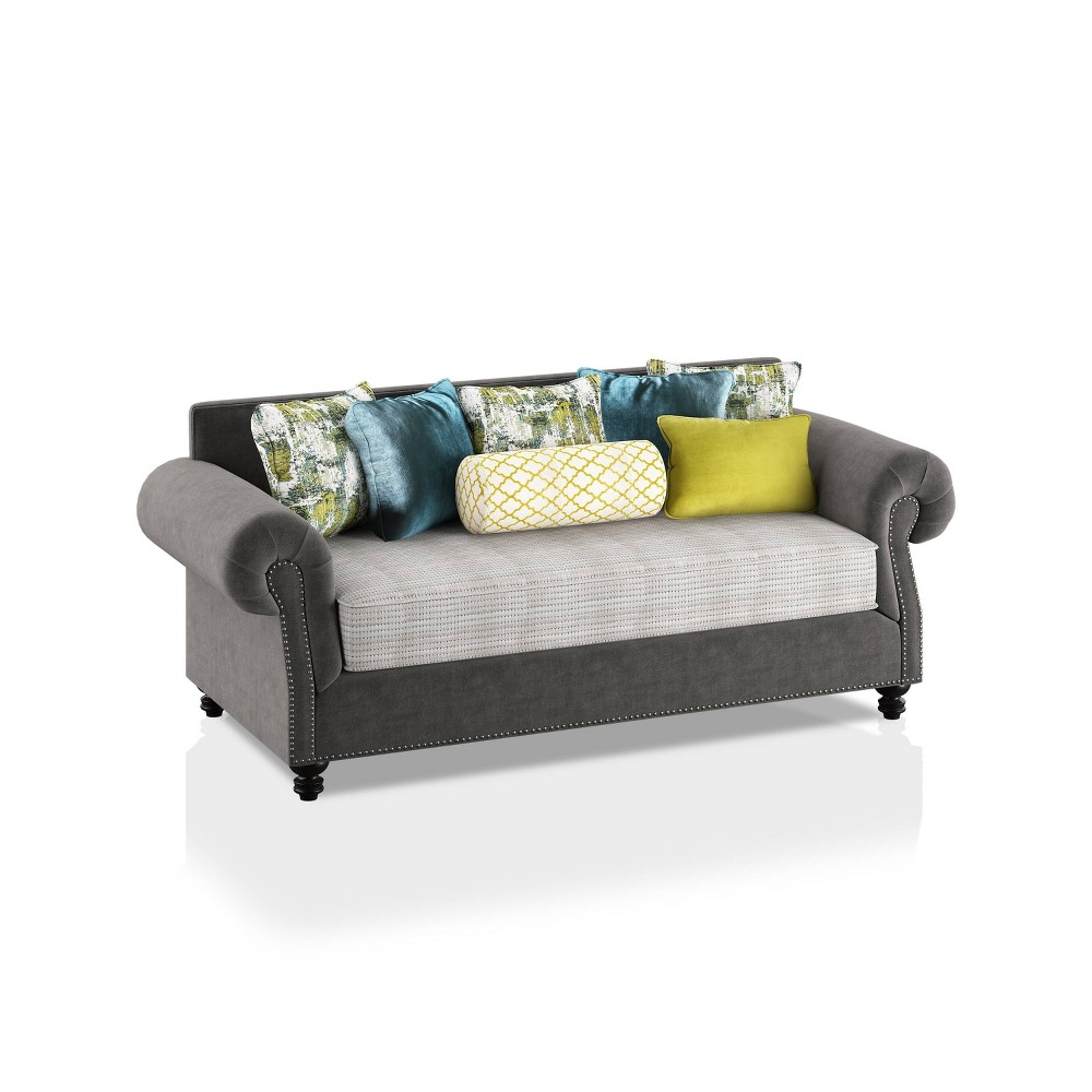 Briarcliffe Upholstered Sofa Gray Beige Teal Olive Homes Inside Out