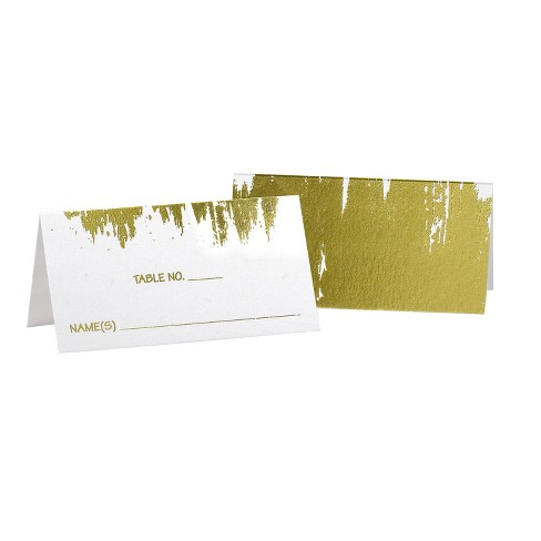 25ct Gold Place Card Pack - image 1 of 1