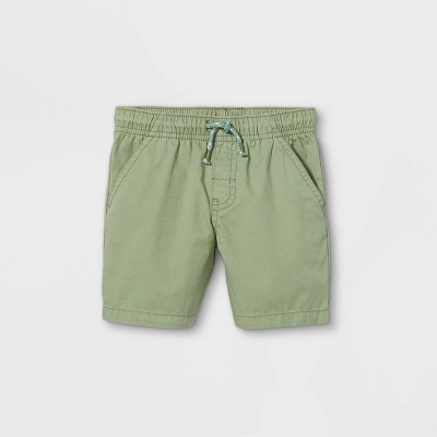 Toddler Boys' Woven Pull-On Shorts - Cat & Jack™ Pale Green 18M