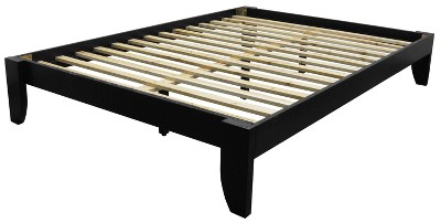 Gilbraltor Solid Bamboo Wood Platform Bed Frame - Black Finish - King Size - Sit 'n Sleep