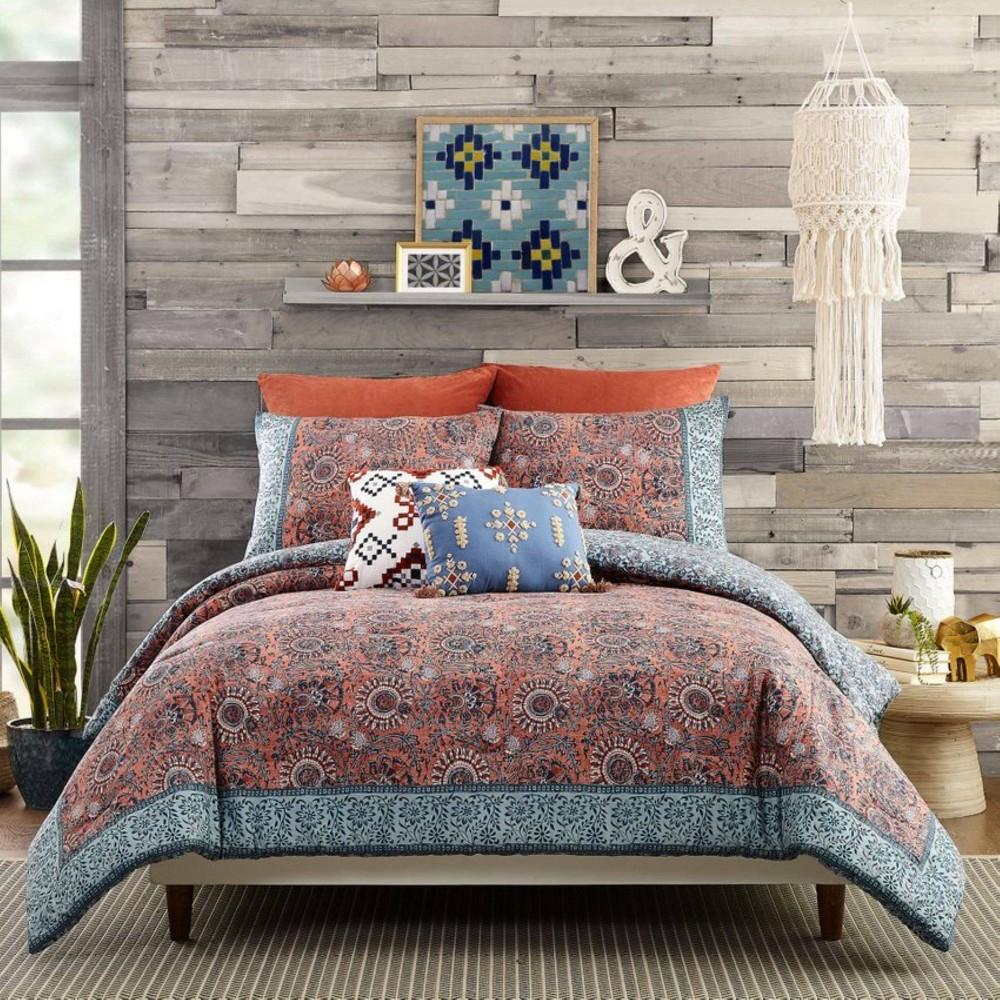Twin Twin Xl 2pc Antara Comforter Set Clay Blue White Jessica Simpson