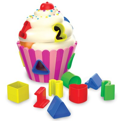 The Learning Journey Early Learning Cupcake Shape Sorter