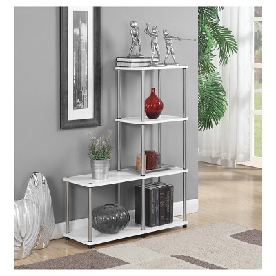 "41.75"" Multi Shelf L Bookshelf White - Breighton Home : Target"