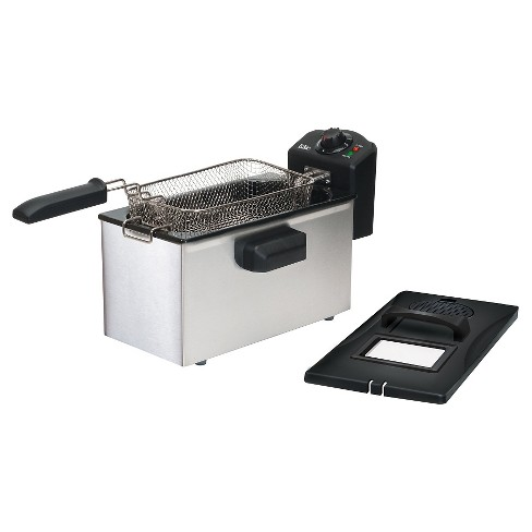 Elite Gourmet Stainless Steel 3.5qt Immersion Deep Fryer - image 1 of 2