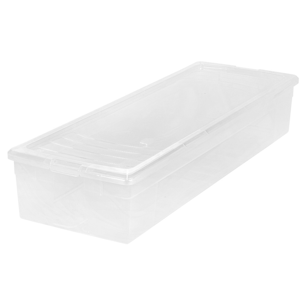 Iris 30 Wrapping Paper Plastic Storage Bin, Clear