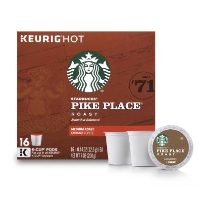 Starbucks Pike Place Medium Roast Coffee - Keurig K-Cup Pods - 16ct