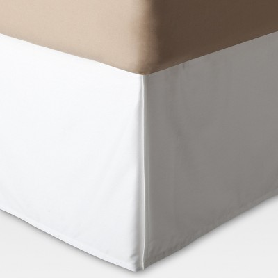 White Wrinkle-Resistant Cotton Bed Skirt (Queen)- Threshold™