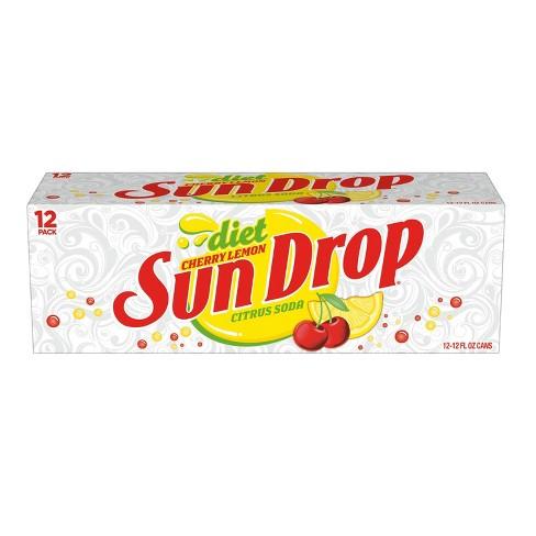 Diet Sun Drop Cherry Lemon - 12pk/12 fl oz Cans - image 1 of 3