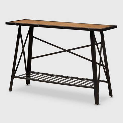 Metal Console Table Brown Bronze